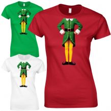 Elf Body Ladies Fitted T-Shirt - Cute Christmas Humour Funny Buddy Gift Top